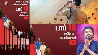 Top 10 Film Trailer List Announced | Bigil Got  No.1 Place | Thalapathy Vijay | Roadside Ambanis