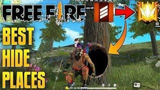 PEAK HIDDEN PLACE IN FREE FIRE _ TOP 10 HIDE PLACE IN BERMUDA MAP _ RANK PUSH TI
