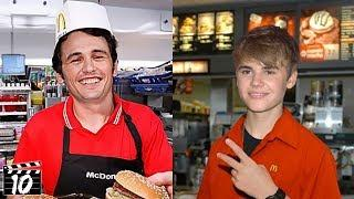 Top 10 Celebrities Who Worked At McDonald's