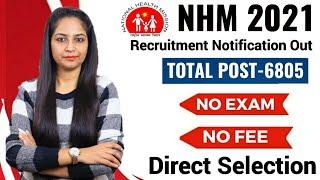 NHM Recruitment 2021 | No Fee | No Exam | Govt Jobs Jan 2021 | NHM Vacancy 2021 | Post Office 2021
