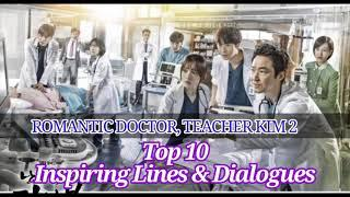 Top 10 Inspiring Lines and Dialogues  KDrama   Romantic Doctor, Teacher Kim Season 2   ABY SSAEM