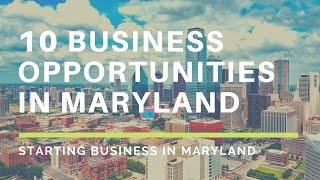 Small Business Ideas | 10 Small Business Opportunities in Maryland, Best Business to start in 2020