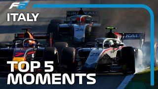 Top 5 Formula 2 Moments | 2020 Italian Grand Prix
