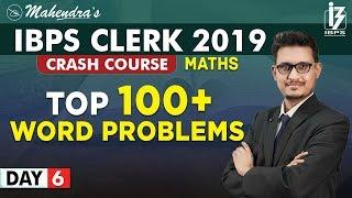 Top 100+ | Word Problems | Maths | By Udit Mahendras |  IBPS Clerk 2019 | 3:15 pm
