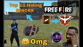 Top 10 Best Hiding place in Bermuda map Free fire (Ranked match)