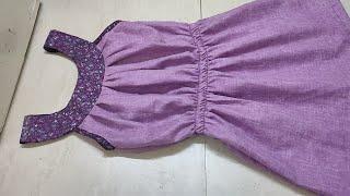 Girls Top in Telugu | Yoke model Frock | 10 years girls frock Cutting and Stitching in Telugu |