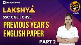 English Questions from SSC CGL Previous Year Question Papers | Part 2 | SSC CGL Question Paper