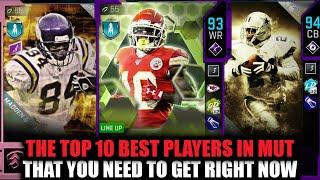 THE TOP 10 PLAYERS IN MUT THAT YOU NEED RIGHT NOW! GLITCHY CARDS! | MADDEN 20 ULTIMATE TEAM