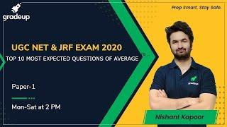 TOP 10 MOST EXPECTED QUESTIONS OF AVERAGE for UGC NET | MHSET | KSET | Gradeup | Nishant Kapoor