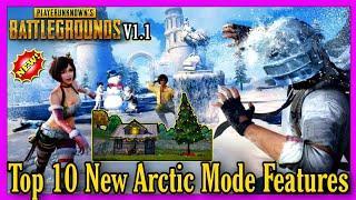 PUBG TOP 10 FEATURE OF NEW ARCTIC MODE | PUBG SNOW MODE IN ERANGEL GAMEPLAY | TYSON NOOB GAMER |