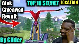 TOP 10 HIDDEN PLACES FROM GLIDER ALOK GIVEAWAY RESULT [BEST WAY TO PUSH RANK]