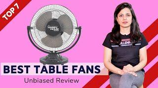 ✅ Top 7: Best Table Fans in India 2020 | Fans Review & Comparison