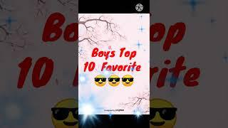 Boy Top 10 Favorite choice your Favorite Number Trending video