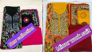 #skcreation13#mirrorwork#dailywearsuit Top beautiful  mirror work embroidery design! #cottonsuit