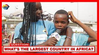 Which country is the LARGEST in AFRICA?| Street Quiz | Funny Videos | Funny African Videos |Comedy|