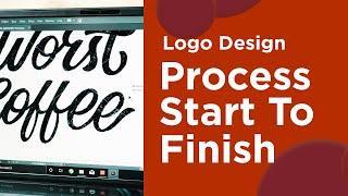 Logo Design Process: Start To Finish - Coffee Shop Logo ☕️