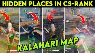 Top 10 Hidden Places in Clash Squad Rank Kalahari Map || Best Place For Clash Squad Kalahari Map