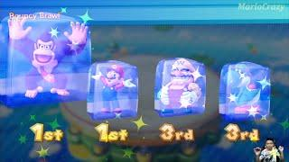 Mario Party 10 Series Maps - Mario vs Wario vs Yoshi vs Donkey Kong (Whimsical Waters) MARIO CRAZY