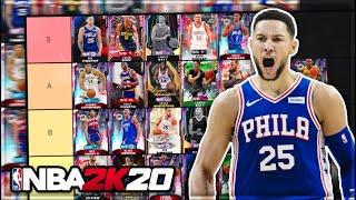 THE FINAL RANKING THE BEST POINT GUARDS IN NBA 2K20 MyTEAM!! (Tier List)