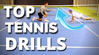 Top Tennis Drills Series (2 of 2) - Best Drills Tennis ATP Pros Use in Training