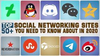 Top 50 Social Networking Sites 2020 | Most Popular Social Media Websites - Facebook, QZone | Top 10