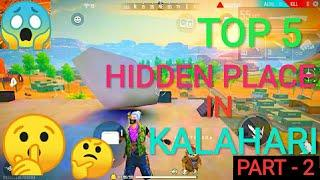 How To Find Secret place In Kalahari Map 2020 | Free Fire Top 5 new hidden place in Kalahari Map