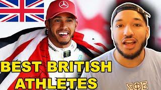 American Reacts to TOP 10 BRITISH ATHLETES OF ALL TIME!!!