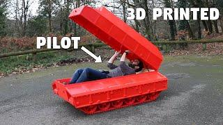 FIELD TESTING THE BIG 3D PRINTED TANK (and ride in)