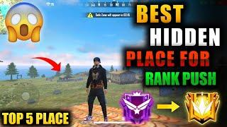 TOP 5 NEW HIDDEN PLACE IN FREE FIRE IN BERMUDA021 RANK PUSH TIPS AND TRICKS IN FREE FIRE 2021