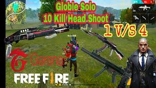 Top Solo Globle free fire 10 kill head shoot|| total gaming live|| Free firw live|| Tech group live