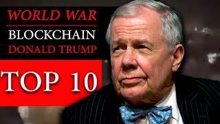 JIM ROGERS INTERVIEW WARNS OF WORLD WAR, BLOCKCHAIN & STOCK MARKET CRASH   AMTV TOP 10 VIDEOS