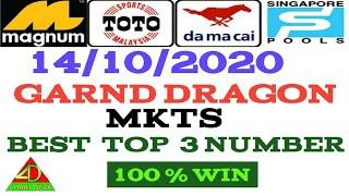 14/10/2020  MKTS  fully  NUMBER_ LUCKY NUMBER _ BEST TOP 3 NUMBER _ MALAYSIA _ SINGAPORE _ LOTTERY