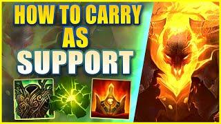 *RANK 1 SUPPORT* THRESH IS THE BEST SUPPORT CARRY - League of Legends