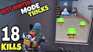 BEST WINTER MODE TRICKS!!! | 18 KILLS SOLO VS SQUADS | PUBG MOBILE