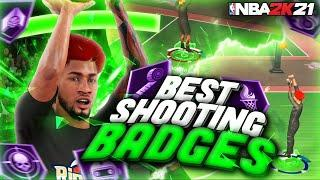 NEVER MISS AGAIN AFTER USING THESE SHOOTING BADGES IN NBA2K21 BEST POINT FORWARD BUILD BEST JUMPSHOT