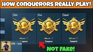 How Conquerors Really Play? Solo vs Squad | PUBG Mobile | Mr Spike