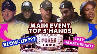 2009 WSOP Main Event - Top 5 Hands   World Series of Poker