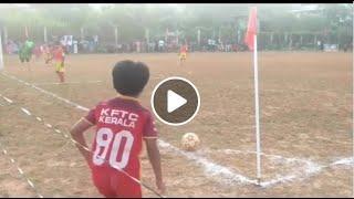 10 വയസ്സുകാരന്റെ Zero Angle CORNER KICK GOAL ...!  Kerala Kid Dani Corner Kick Goal