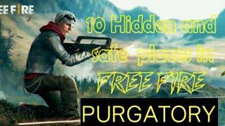 TOP 10 HIDING PLACE IN PURGATORY MAP||RANK PUSH || BEST PLACES