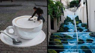 दुनिया में बनी सबसे अद्भुत स्ट्रीट आर्ट्स Part-2   Genius Graffiti Art That Will Make You Smile