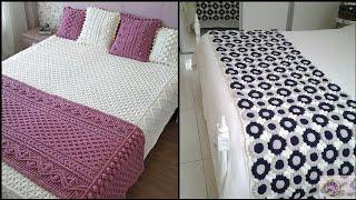 Top 10 Hand Made Crochet Bed Sheets & Bed Spread Patterns #shorts