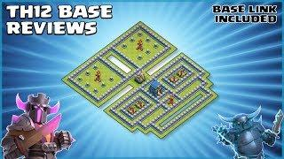 *FRIGHTFUL* New TH12 Legend League & War Base Review (WITH LINK) - Clash of Clans - #68