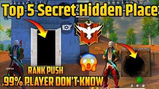 TOP 5 SECRET PLACE IN KALAHARI MAP FREE FIRE || TOP 5 HIDDEN PLACE IN KALAHARI