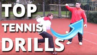 Top Tennis Drills Series (1 of 2) - Best Drills Tennis ATP Pros Use in Training