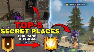 Top 5 Hidden/Secret Place For Rank Pushing || FreeFire
