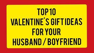 Top 10 valentine's gift ideas for boyfriend / Husband  || valentine's gift ideas