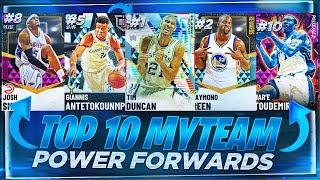 RANKING THE TOP 10 BEST POWER FORWARDS IN NBA 2K21 MYTEAM!! NOVEMBER TOP 10 POWER FORWARDS!!
