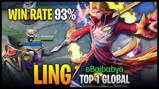 Ling 93% Win Rate Perfect Blades Top 1 Global - Mobile Legends