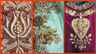 Top10! Very amazing And Attractive Zardosi Work Embroidery Designs For Dresses /Fancy Embroidery (1)