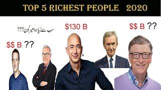 Top 5 richest People In The World in 2020 (Hindi/Urdu)|| richest person In 2020